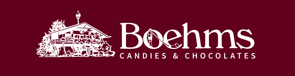 Boehms Candies and Chocolates logo home page link
